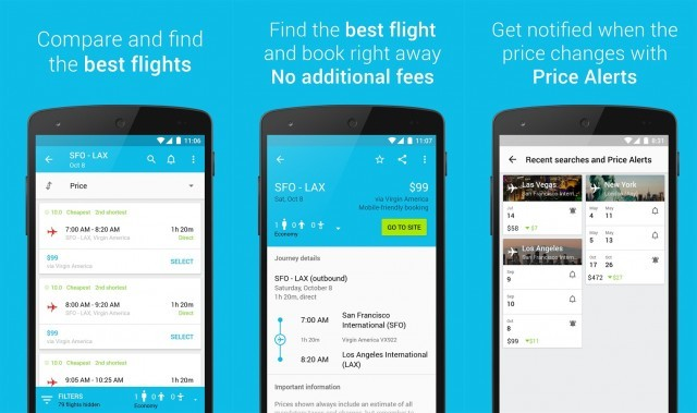 Skyscanner flight search app