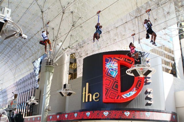 The Slotzilla Zipline in Las Vegas