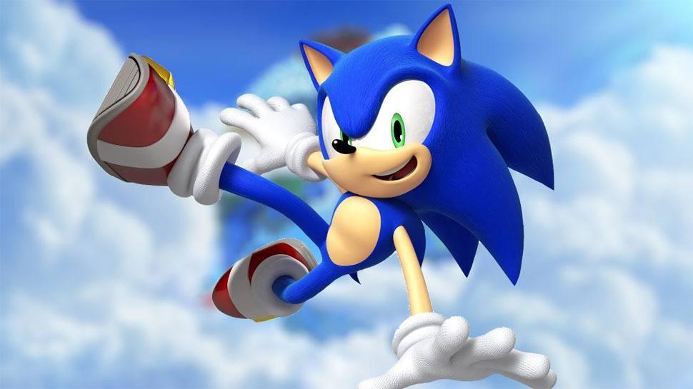 Sonic running.