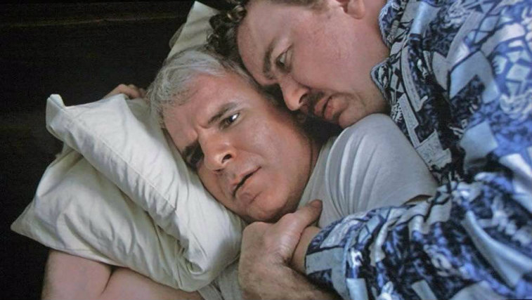 Steve Martin and John Candy in Planes Trains and Automobiles