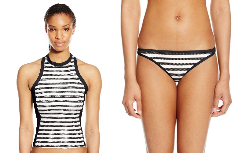Striped tankini - flattering bathing suits under $50