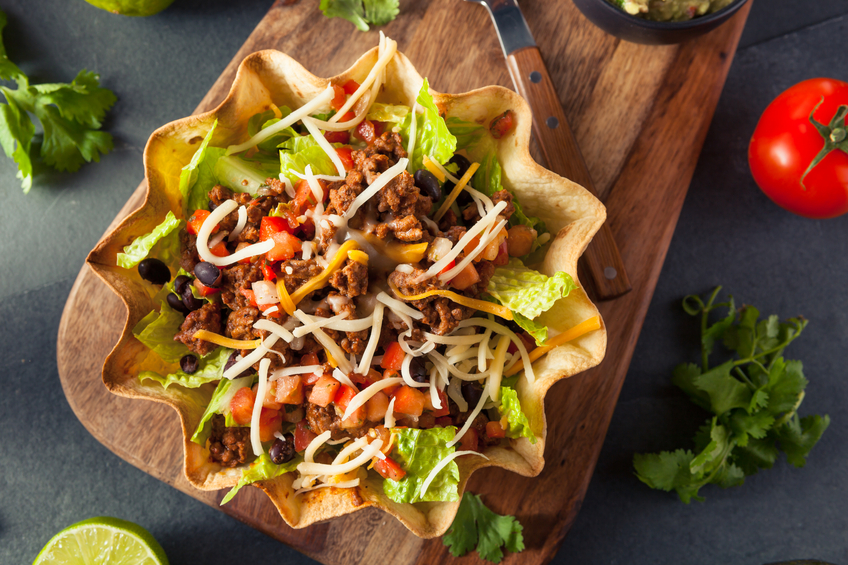 Taco Salad in a bowl