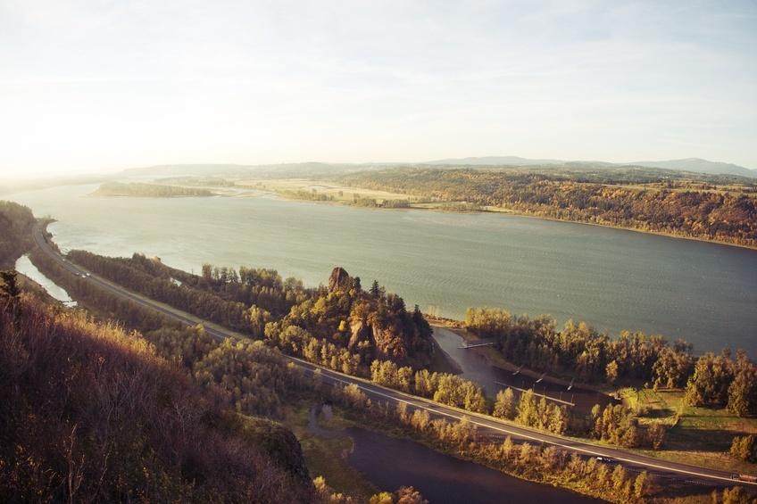 Columbia River Gorge in Oregon