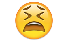 Tired face - emoji meanings