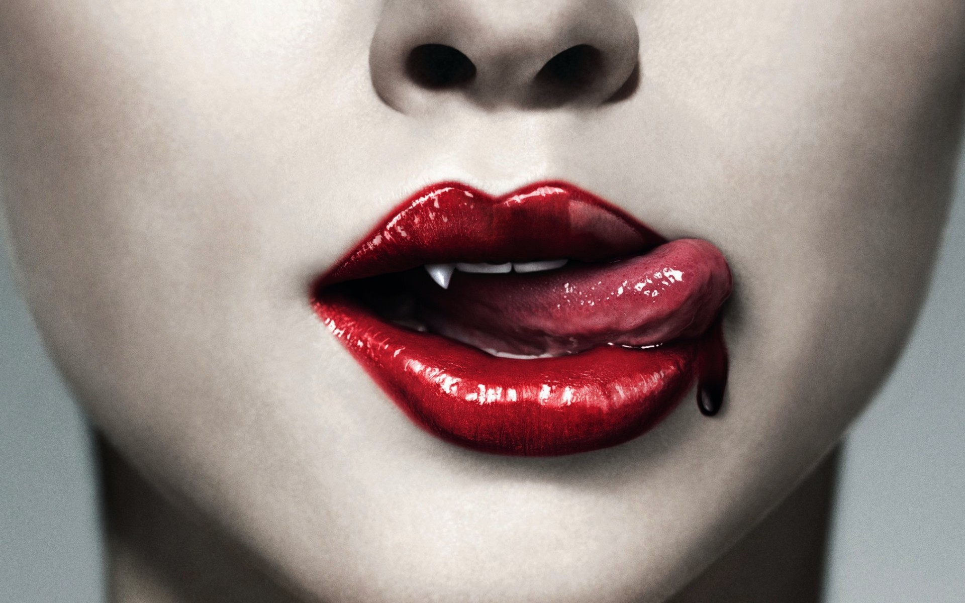 True Blood mouth with blood