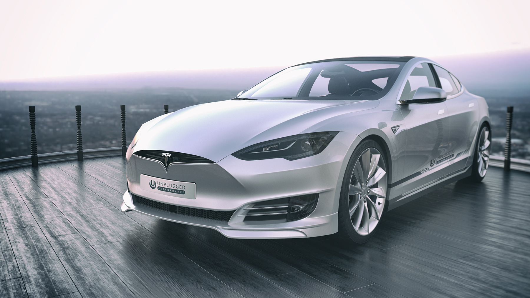 Unplugged Performance refreshed fascia Tesla Model S