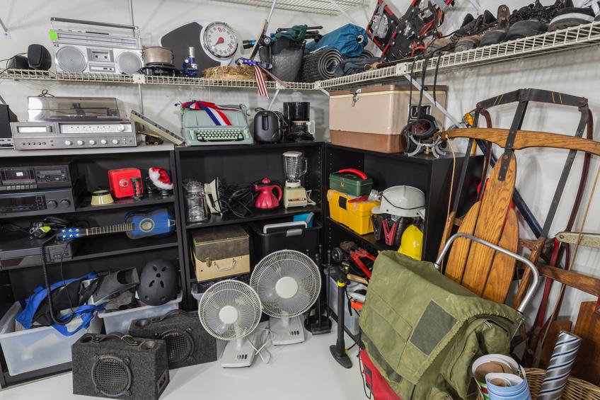 overfilled garage