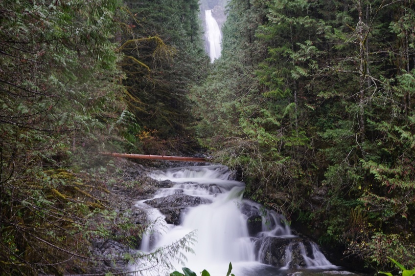 The middle point of the Wallace falls hike.