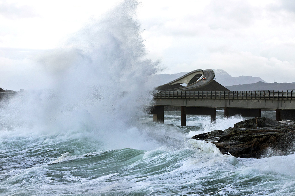 famously winding, harrowing Atlantic Road in Norway