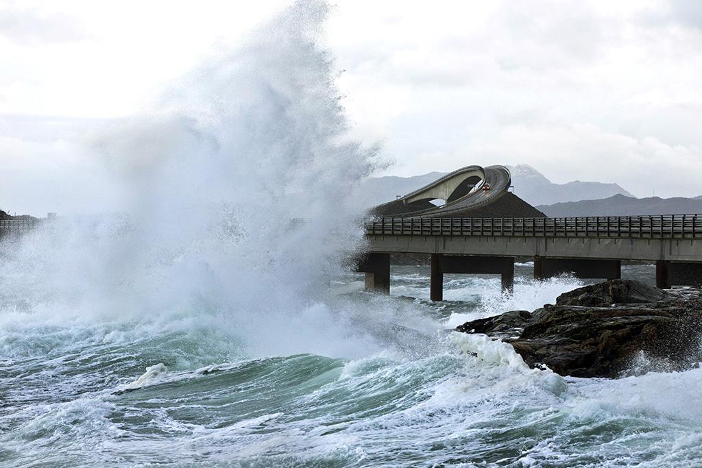 famously winding, harrowing Atlantic Road in Norway