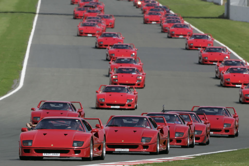 Perhaps the largest gathering of Ferrari F40s in the world