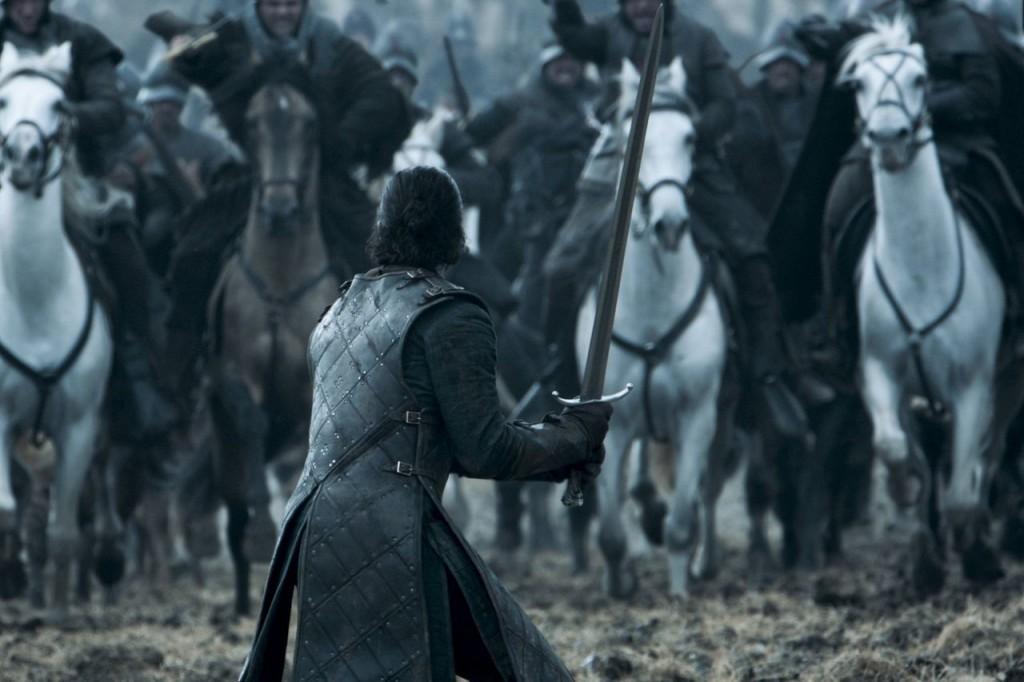Jon Snow at the Battle of the Bastards