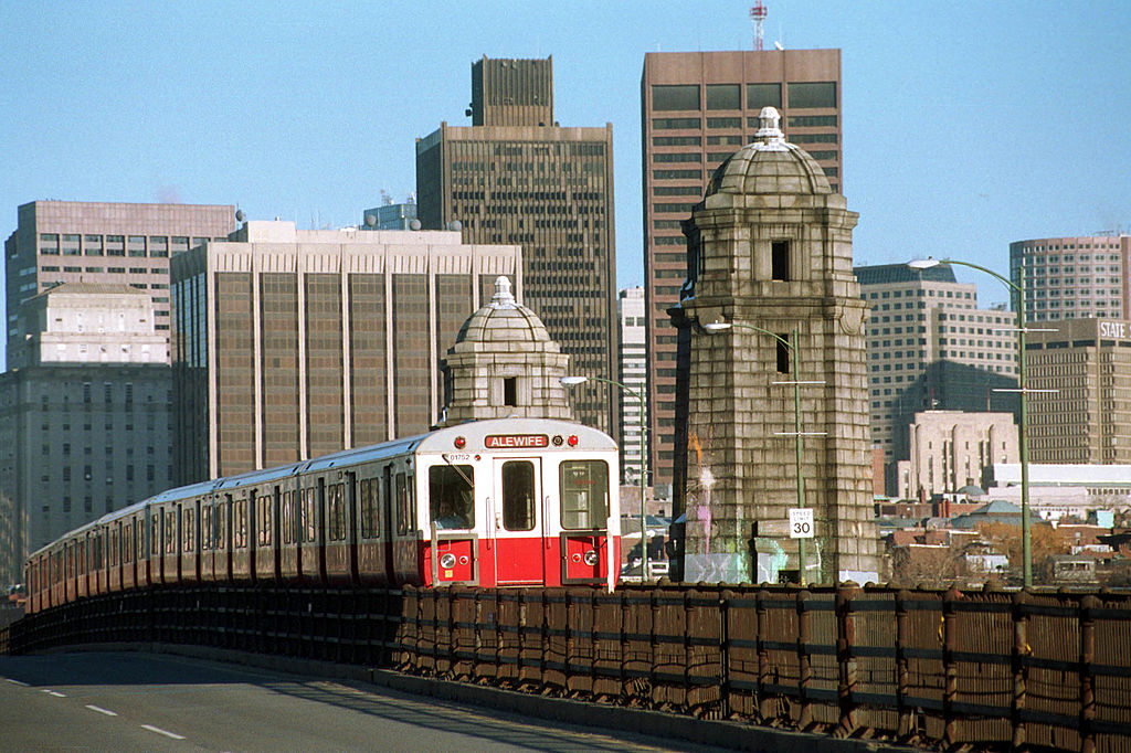 A train in Boston, where new interview question laws are now in effect
