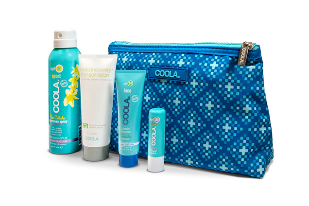 Suncare travel set