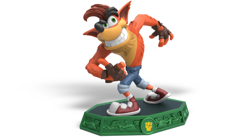The Crash Bandicoot Skylander action figure.