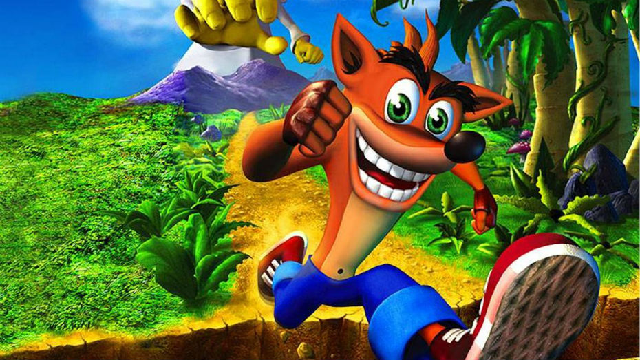 The PlayStation mascot Crash Bandicoot.