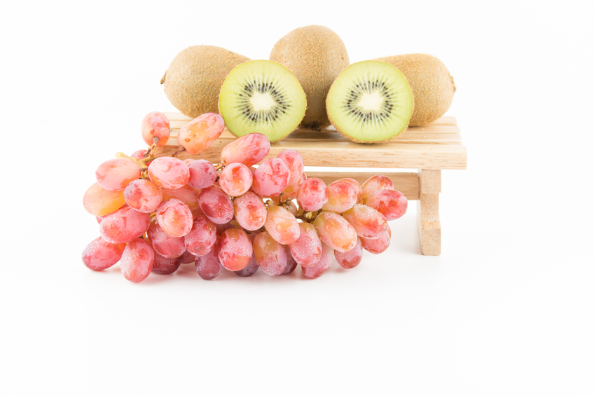 fruit grapes and kiwi