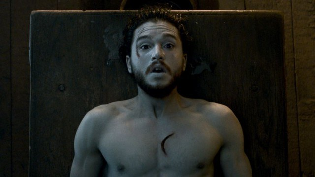 Jon Snow (Kit Harington) comes back to life in a scene from Game of Thrones sixth season.