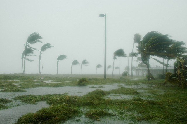 Key West, Florida during a storm