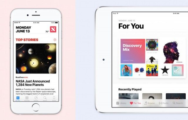 iOS 10 News and Music apps