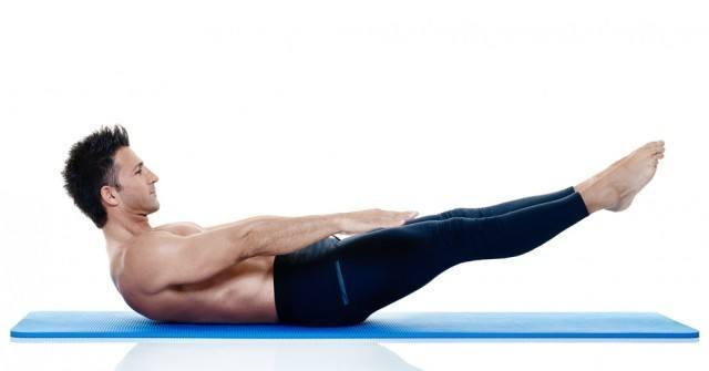 man fitness pilates exercices