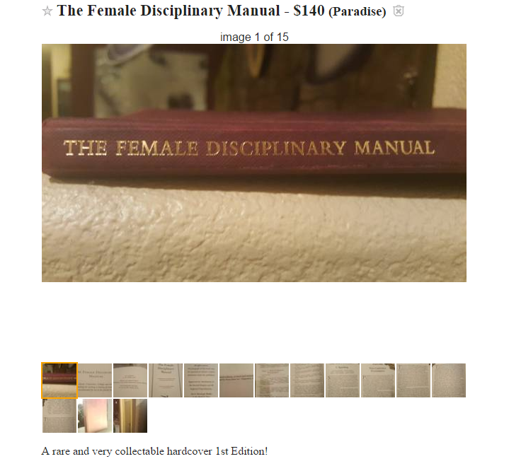 """The Female Disciplinary Manual"""