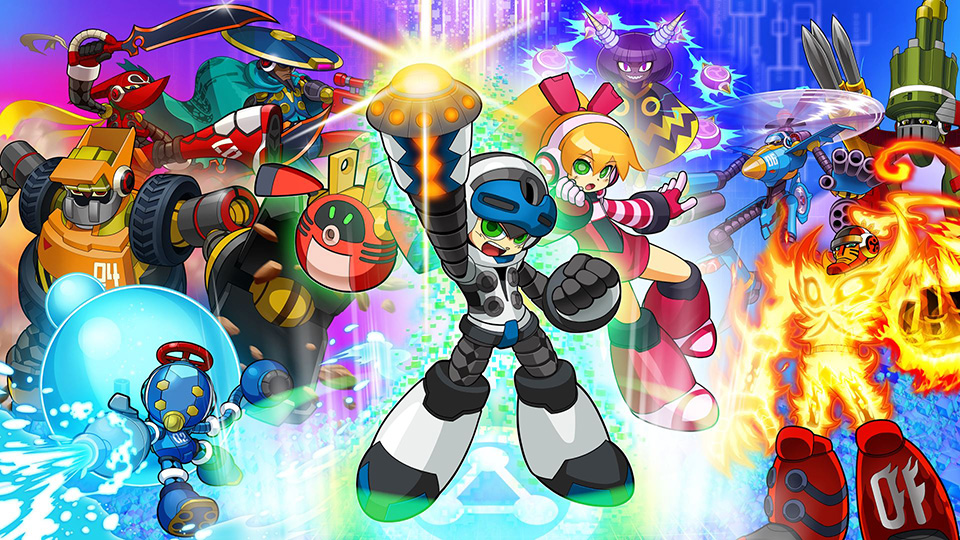 The hero and villains of Mighty No. 9.
