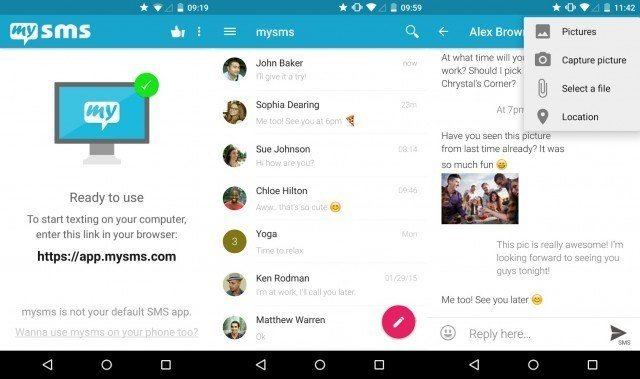 mySMS - free text messaging apps