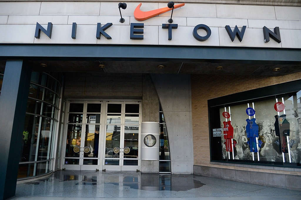 store entrance to Niketown
