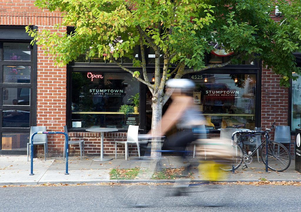 biker in portland, oregon
