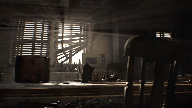 A screenshot from the PS4 demo of Resident Evil 7, video game rumors
