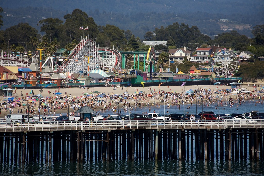 The beach in Santa Cruz, which recently formalized itself as one of the country's sanctuary cities