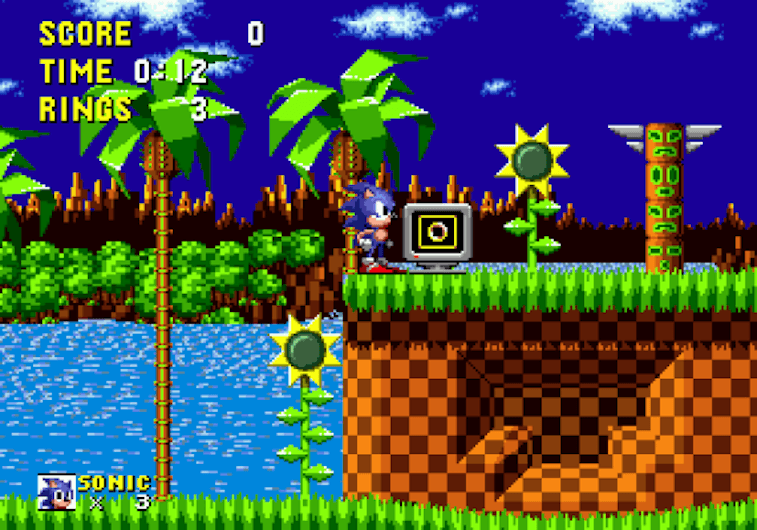 Sonic in the Green Hill Zone.