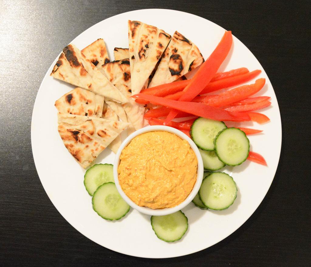 spicy feta dip appetizer platter