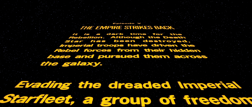 Star Wars Empire Strikes Back Opening Crawl