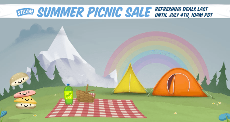 The banner for the Steam Summer Sale of 2016.