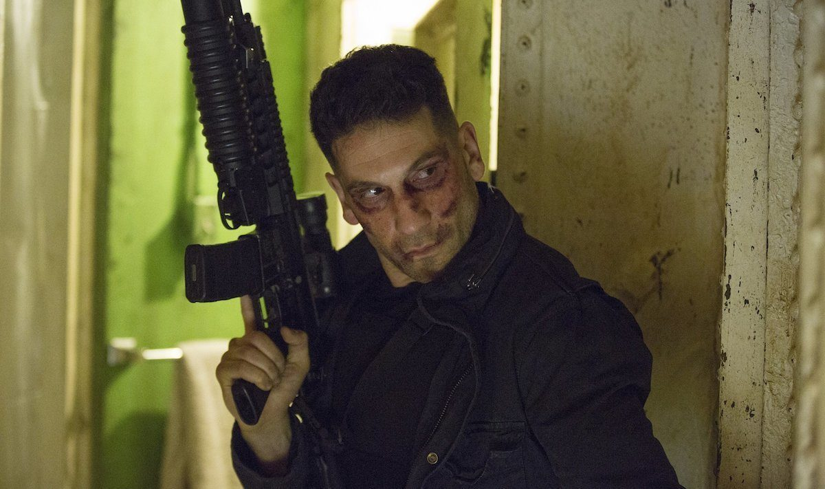 The Punisher holding a weapon in Daredevil