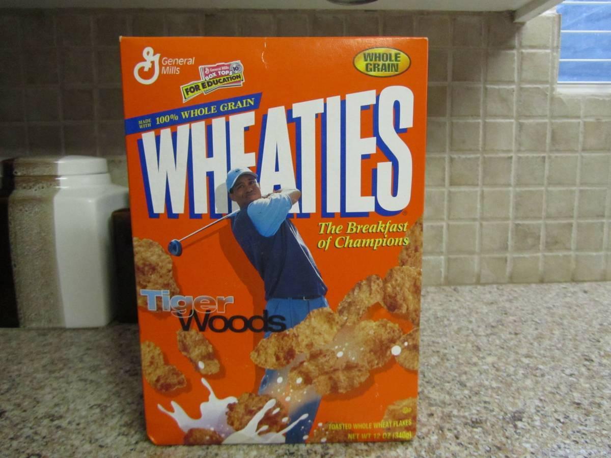 tiger woods wheaties box