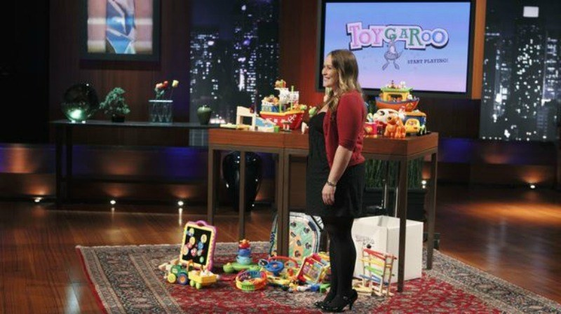 Nikki Pope pitching on<em>Shark Tank.</em>