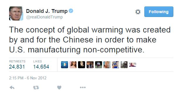 trump climate change tweet