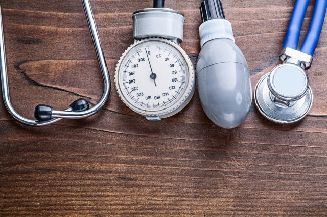 Stethoscope and blood pressure monitor