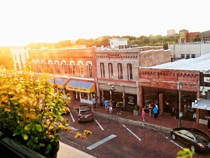 The downtown Plano, Texas area