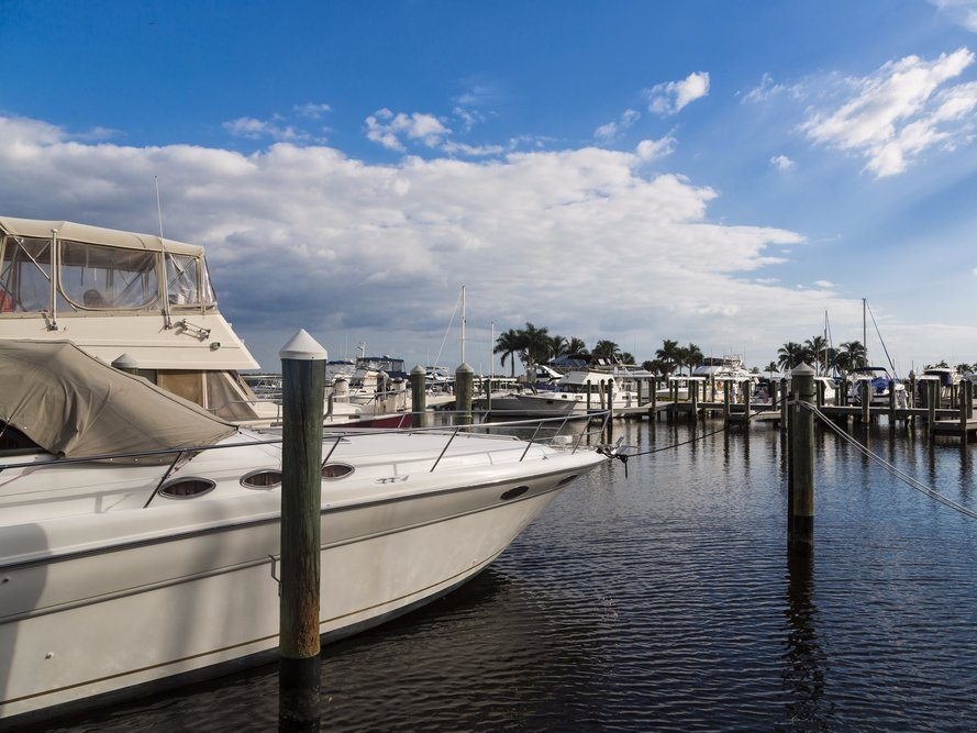 Cape Coral is on the Gulf of Mexico and known for its fishing and boating, with over 400 miles of canals. Nadezda Murmakova/Shutterstock