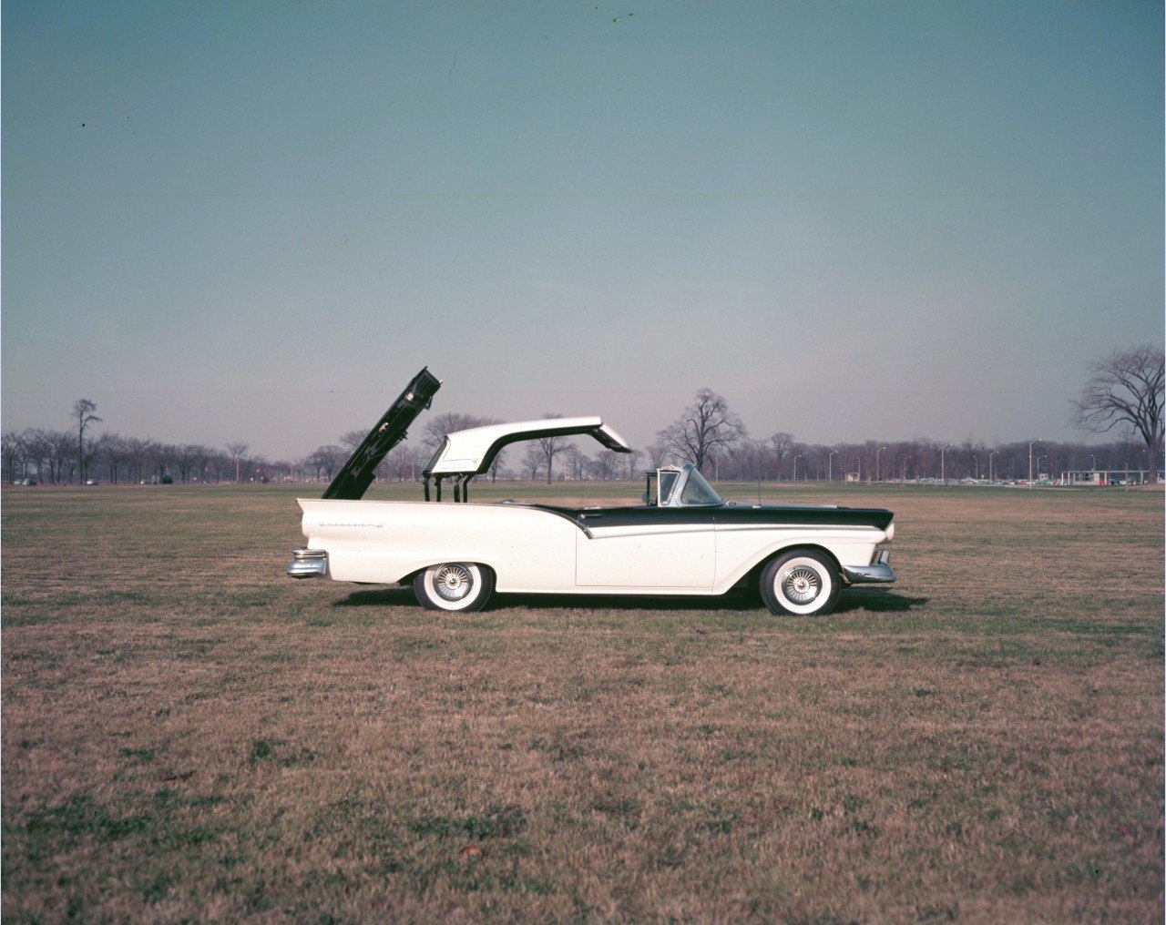 The First Power Hardtop Drop Top Fords 50s Skyliner 57 Chevy Convertible Wiring 1957 Ford Fairlane