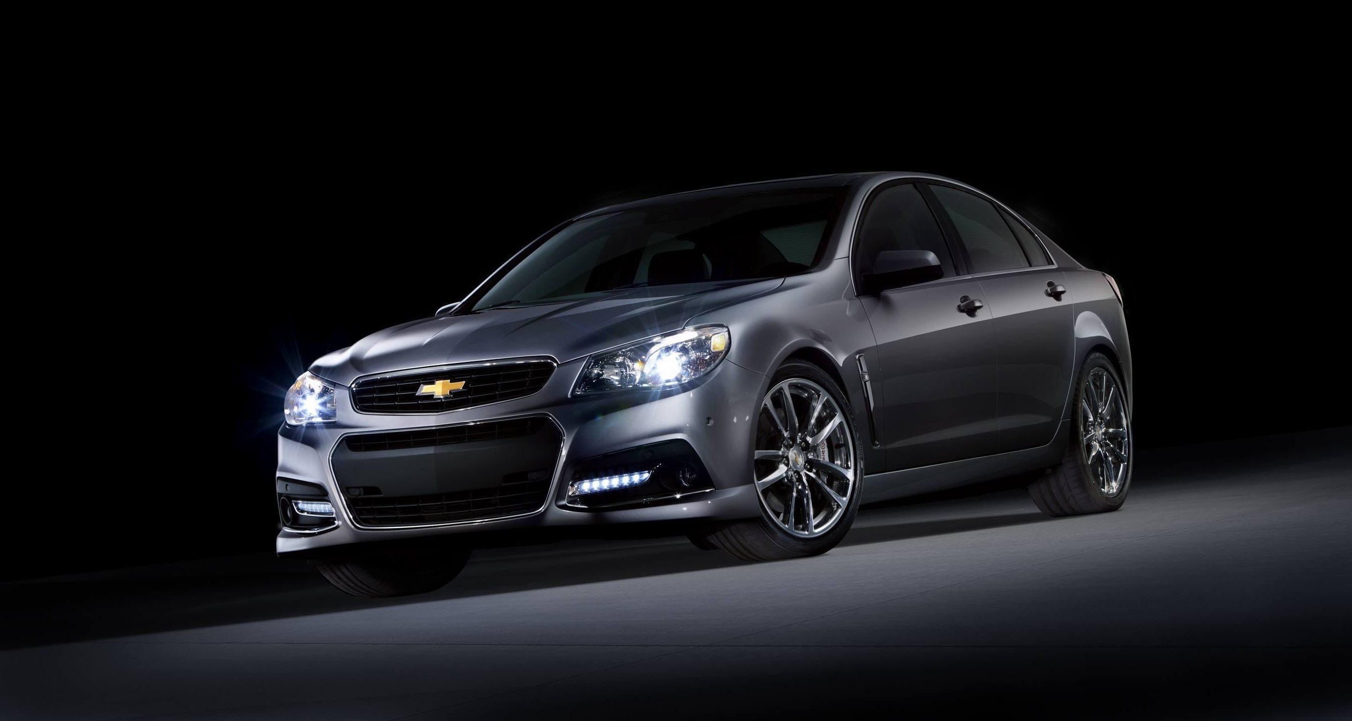 The Chevrolet SS sedan in gray
