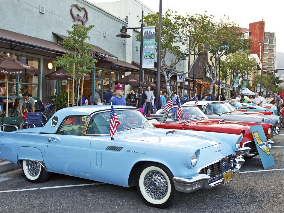 A suburb in the greater Los Angeles area, Glendale has hosted its annual Cruise Night, featuring vintage cars, for the past 23 years.Philip Pilosian/Shutterstock