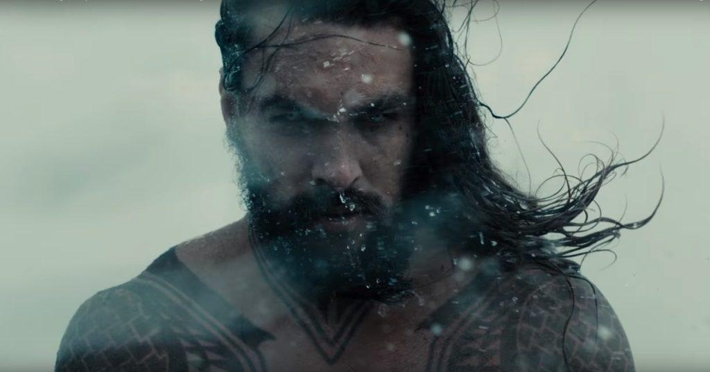 Jason Momoa as Aquaman in Justice League
