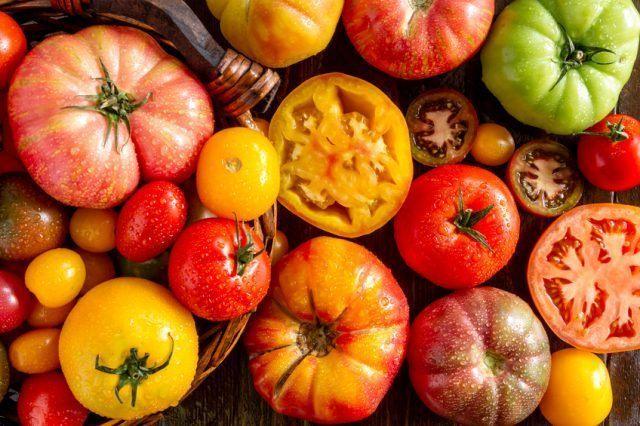 Pile of Heirloom Tomatoes