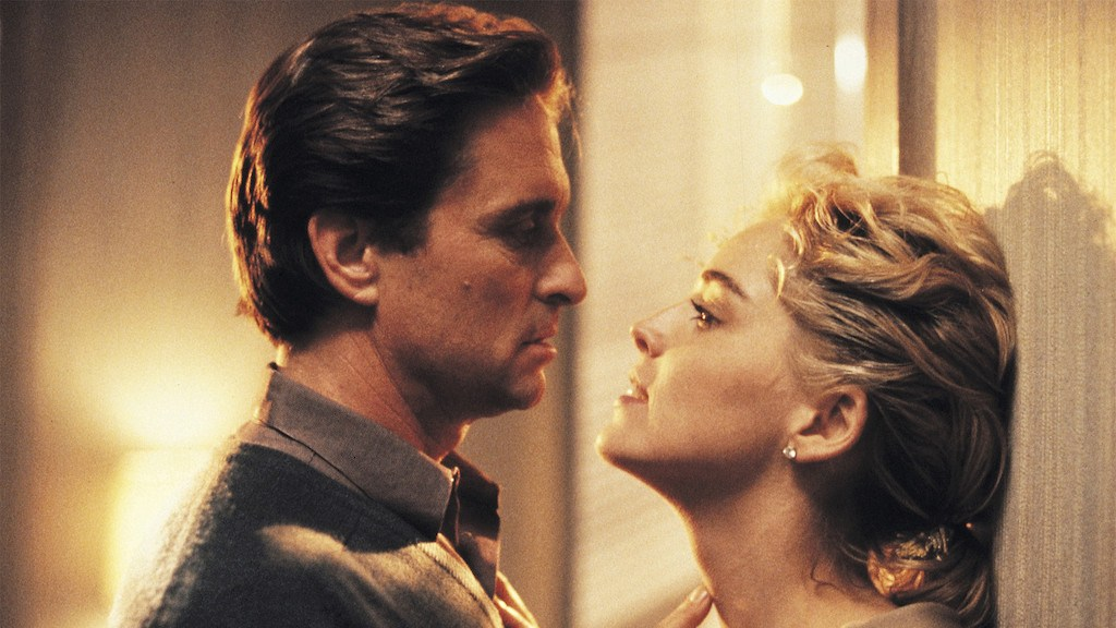 Sharon Stone and Michael Douglas