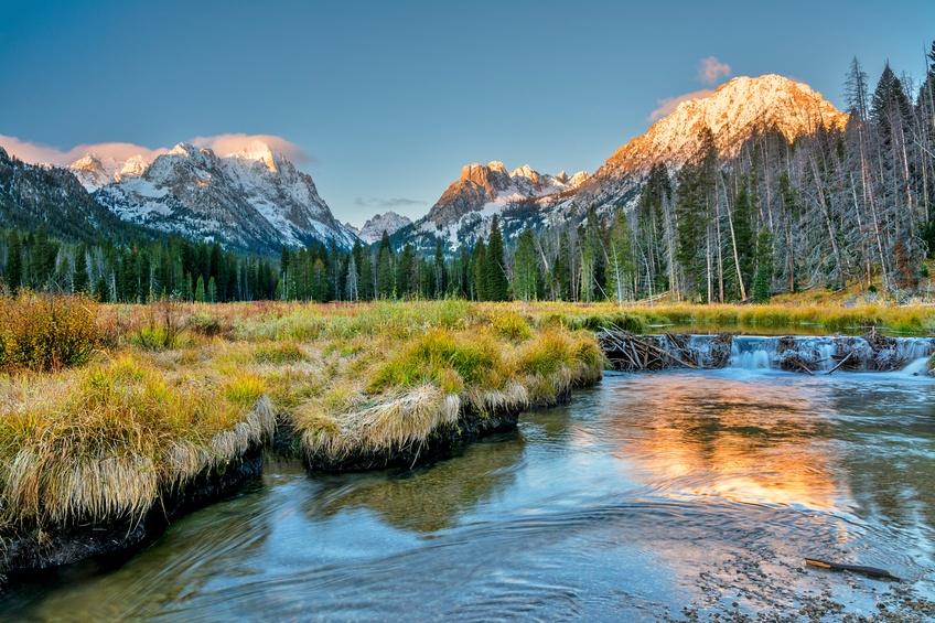 Sunrise in the Idaho mountains